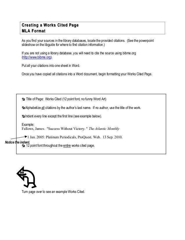creating a works cited page