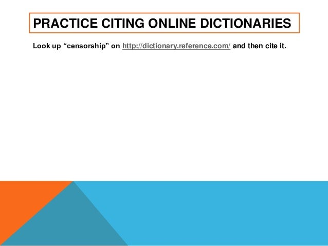 HELP!!! I need to cite a dictionary.?