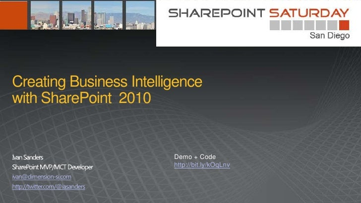 Creating Business Intelligence With Share Point 2010