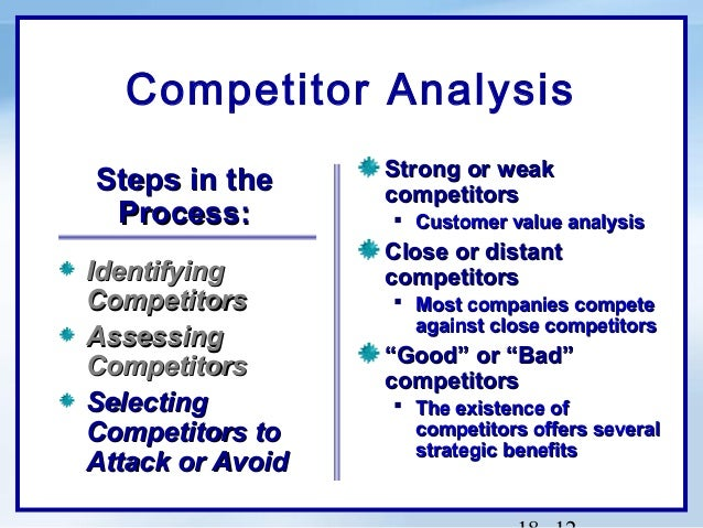 analysis of competitive advantage in an The value chain developed by michael porter is a great way to focus on the activities which create competitive advantage so you can create, strengthen and protect what makes the business.