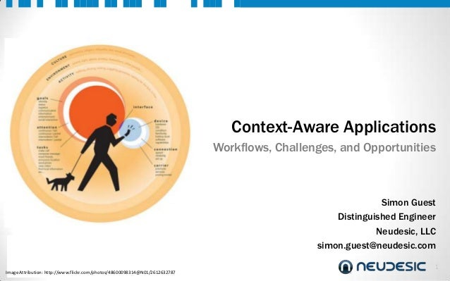 Context-Aware Applications Workflows, Challenges, and Opportunities  Simon Guest Distinguished Engineer Neudesic, LLC simo...