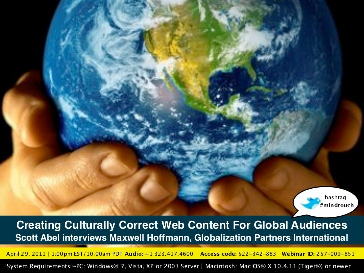 """Creating Culturally-Correct Web Content For Global Audiences"""
