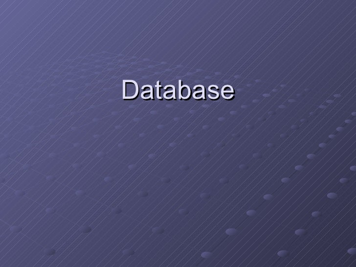 Creating Database 2010