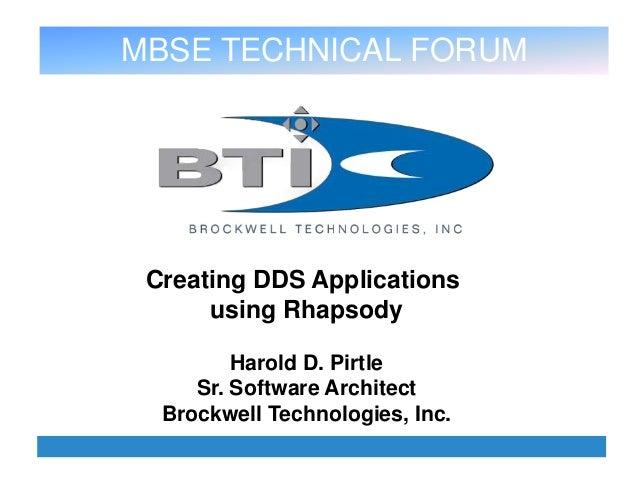Creating DDS Applications Using IBM Rational Rhapsody
