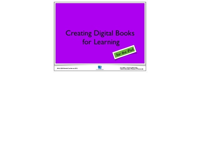 Creating digital books for learning