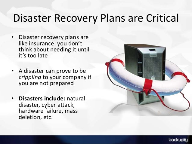 Disaster recovery plan video