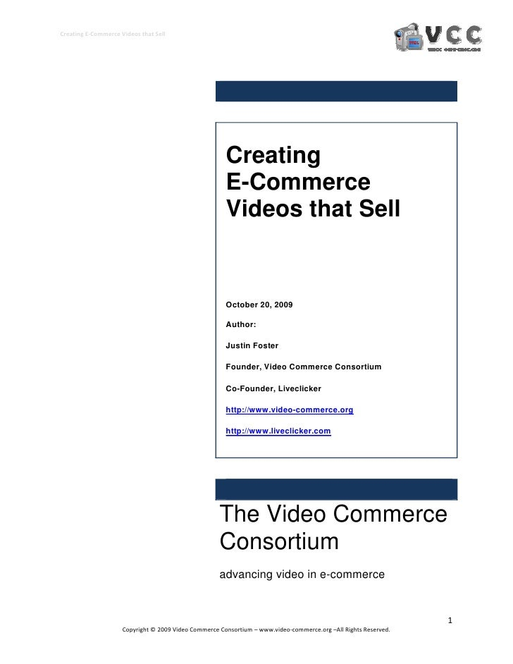 Creating E-Commerce Videos That Sell