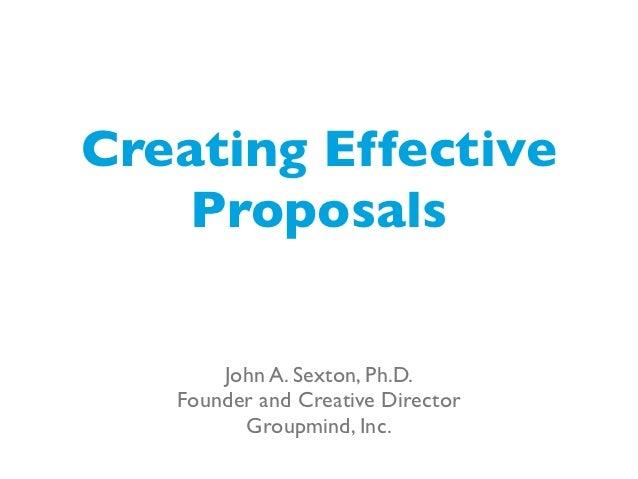 Creating Effective Proposals — WordCamp Edmonton 2012