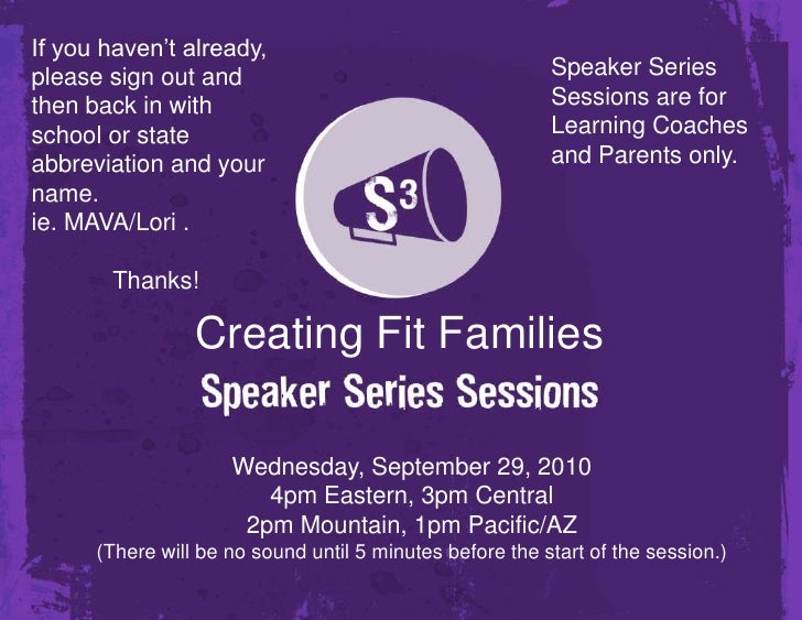 Creating Fit Families
