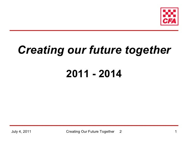 Creating our future together