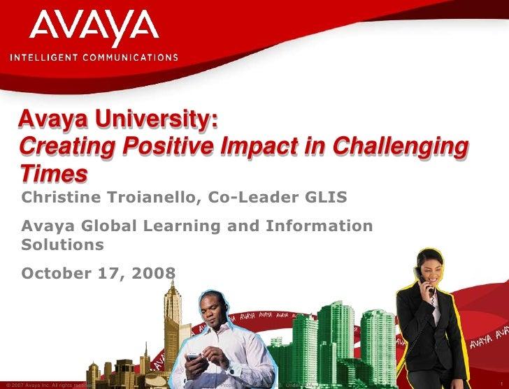 Creating Positive Impact Tata Learning Forum Oct 2008