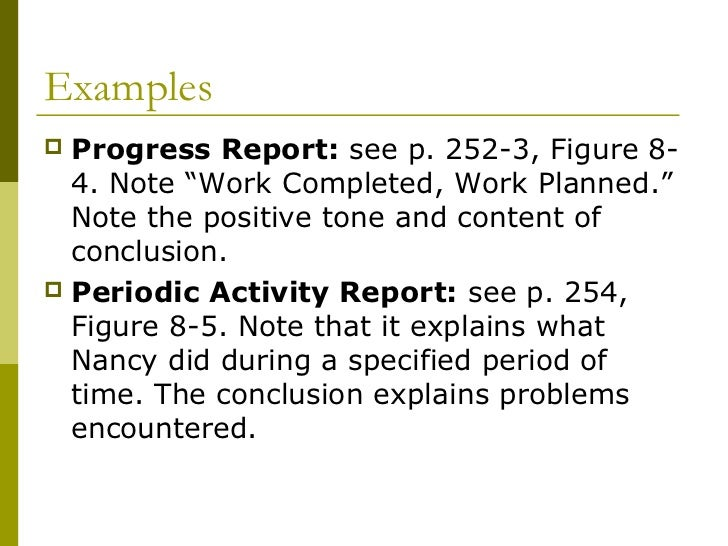 How to write a progress and memo report?