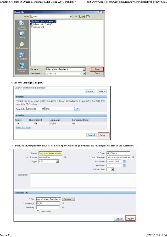 Creating an rtf template oracle autos post for How to create rtf template for xml publisher