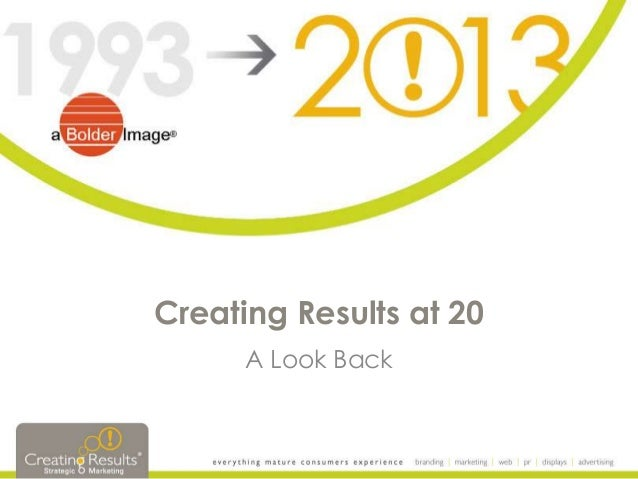 Creating Results at 20 A Look Back