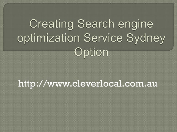 Creating search engine optimization service sydney option ppt