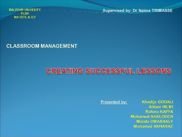 Creating successful lessons   compiled version