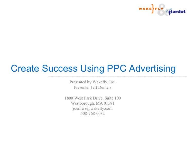 Creating Success Using PPC Advertising