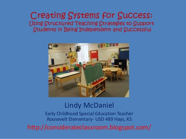 Creating Systems for Success:Using Structured Teaching Strategies to Support Students in Being Independent and Successful ...