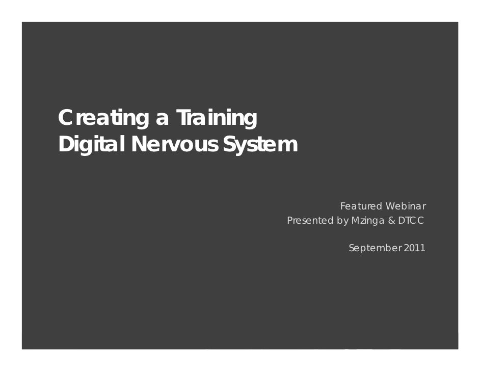 Customer Experience     Creating a Training     Digital Nervous System                                                    ...