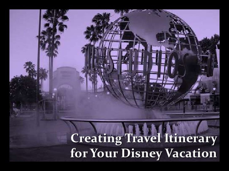Creating Travel Itinerary for Your Disney Vacation<br />