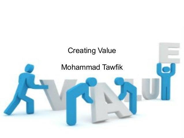 Creating Value for Entrepreneurs