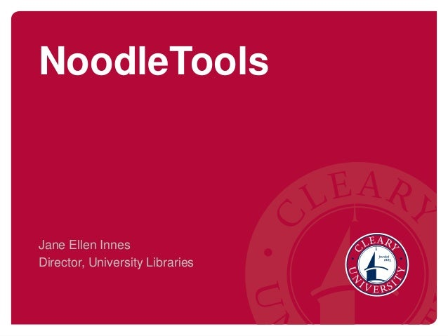 Creating your NoodleTools tools account