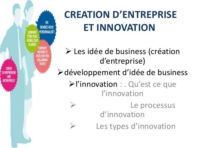 Creation d entreprise for Idee creation entreprise service