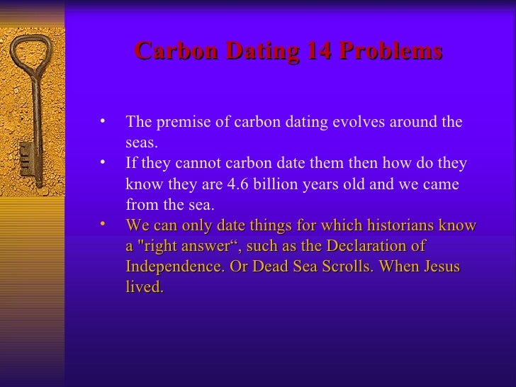 Proof that carbon dating doesnt work