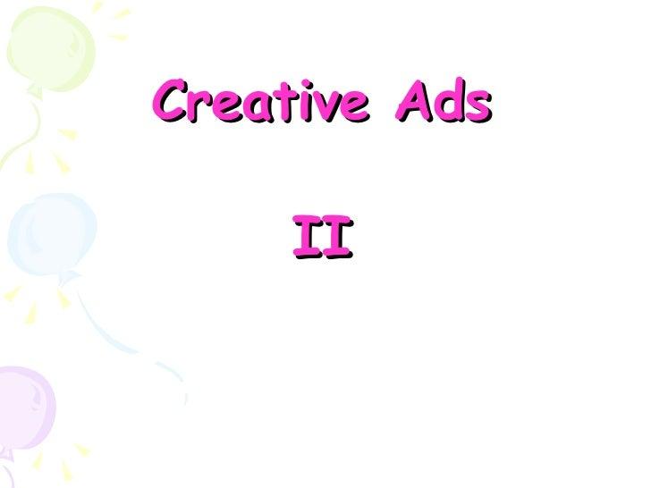 Creative Ads 2