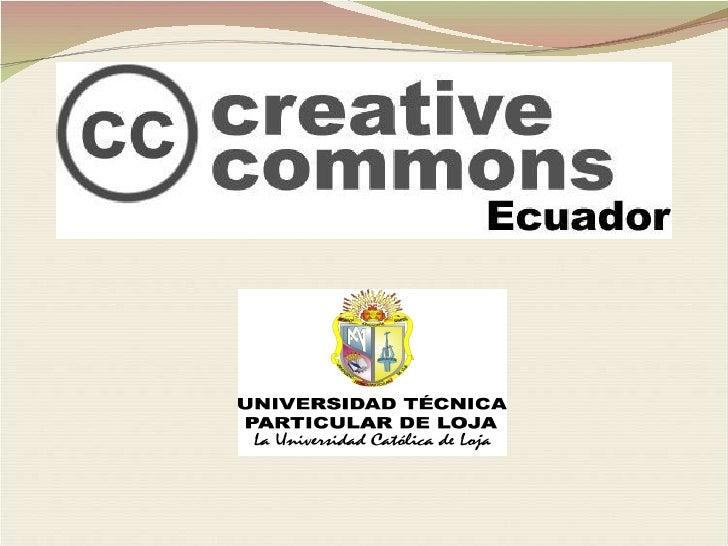 Licencias Creative Commons Ecuador