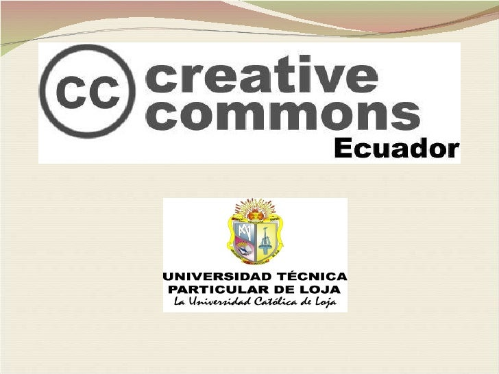 Licencias Creative Commons Ecuador
