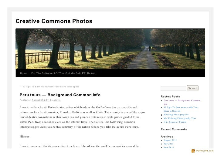Creative Commons Photos Home      For The Betterment Of You, Get Mis Sold PPI Refund ← 10 Tips To Earn mo ney with Yo ur S...