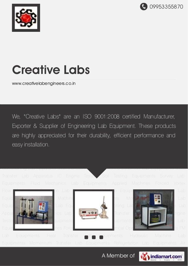 09953355870A Member ofCreative Labswww.creativelabengineers.co.inMechanical Operation Lab Equipments FM Lab Equipments Hea...