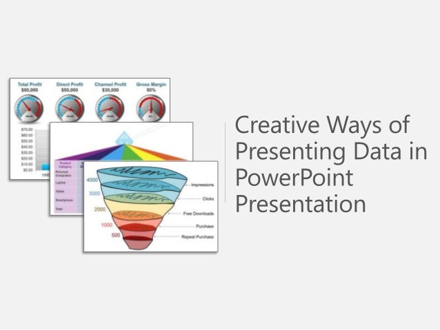 Sample Use of Creative Ways Presenting Data Powerpoint