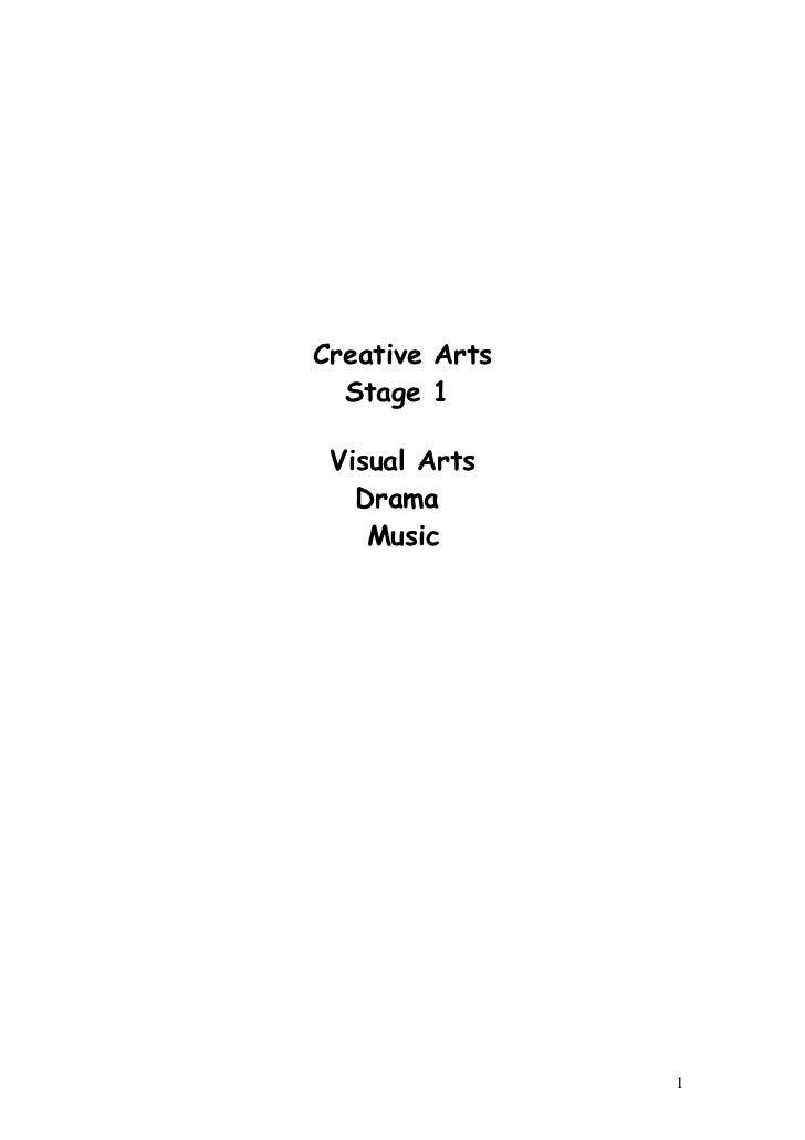 Creative Arts  Stage 1 Visual Arts   Drama    Music                1