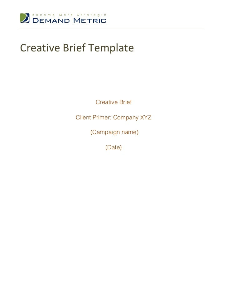 Creative Brief Template DpJ2gu9t
