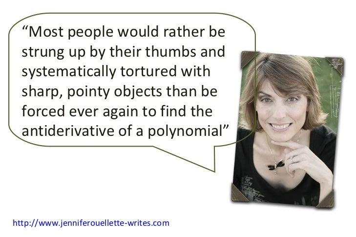 """ Most people would rather be strung up by their thumbs and systematically tortured with sharp, pointy objects than be for..."