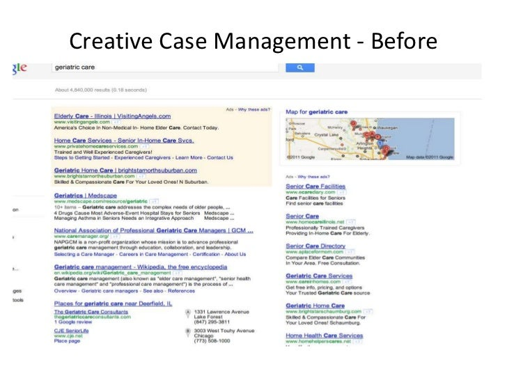 Creative Case Management - Before