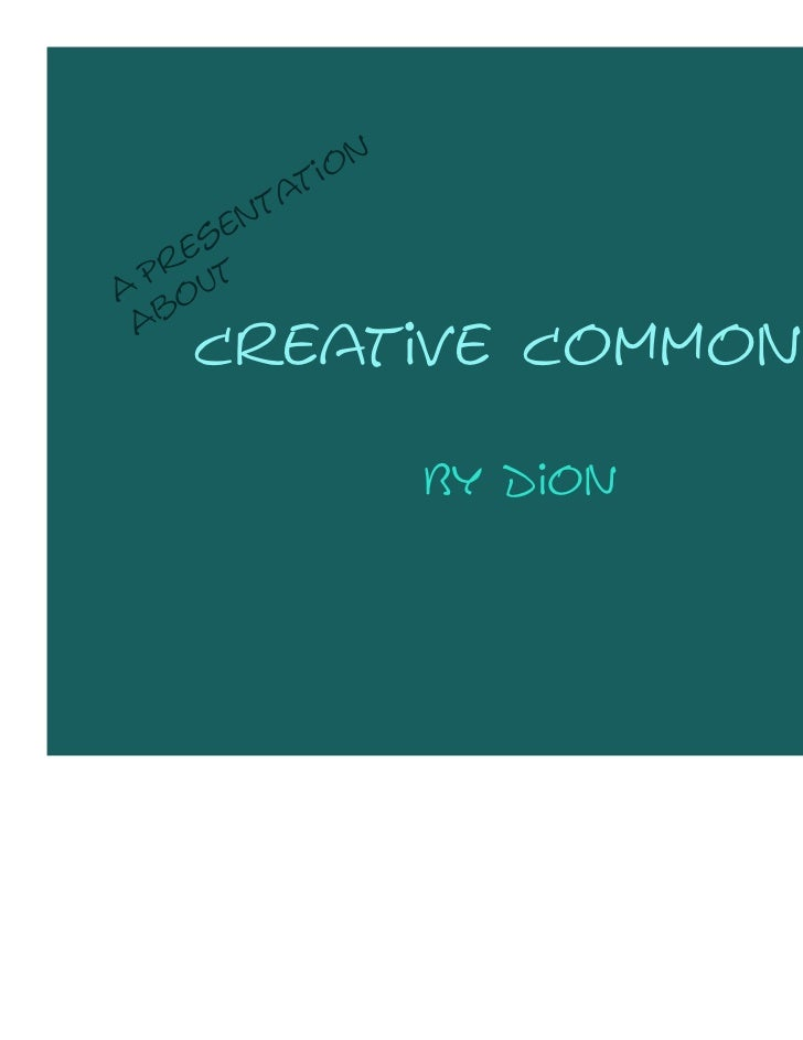 Creative commons Dion