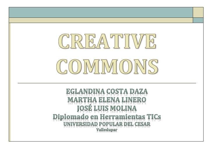 """      """"Creative Commons (CC) es una       organización no gubernamental       sin ánimo de lucro que       desarrolla pla..."""
