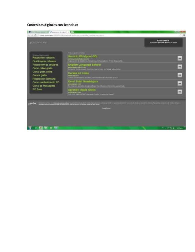 Contenidos digitales con licencia cc