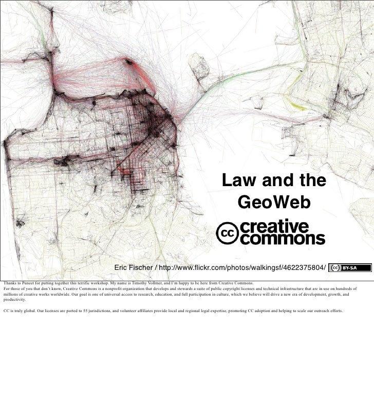 Creative Commons Law and the GeoWeb presentation