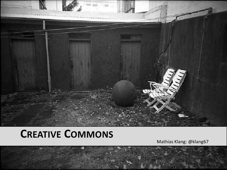 Mathias Klang: @klang67<br />Creative Commons<br />