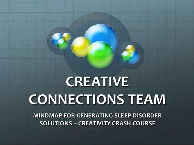 CREATIVE CONNECTIONS TEAM:  SLEEP SOLUTIONS MINDMAP & OUTLINE
