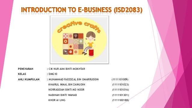 Semester 5 - Creative Crafts (E-Business)