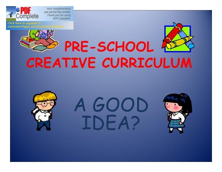 Creative curriculum project