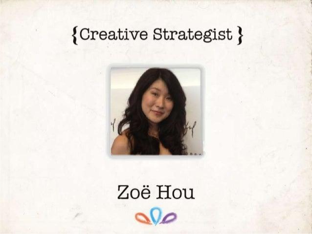 Creative CV Zoe Hou 2013 Updated