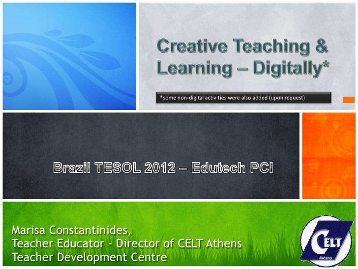 Creative Teaching & Learning - digitally