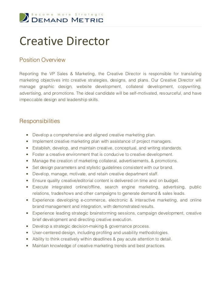 Art Director Job Description Pictures to Pin PinsDaddy – Art Director Job Description