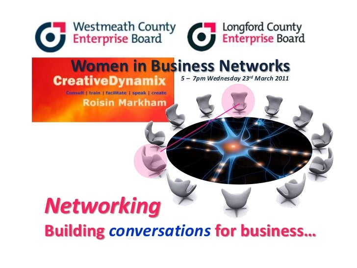 Women in Business Networks<br />5 –  7pm Wednesday 23rdMarch 2011<br />NetworkingBuilding conversations for business…<br />